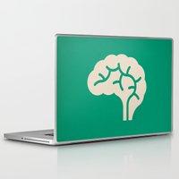 brain Laptop & iPad Skins featuring Brain by Blank & Vøid