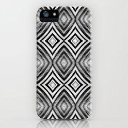 Black White Diamond Pattern iPhone Case
