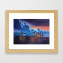 Sea Lantern Balance Framed Art Print
