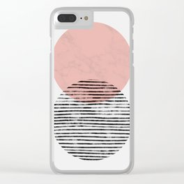 Mid Century art duo Clear iPhone Case