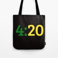 oakland Tote Bags featuring Oakland 420 by Good Sense