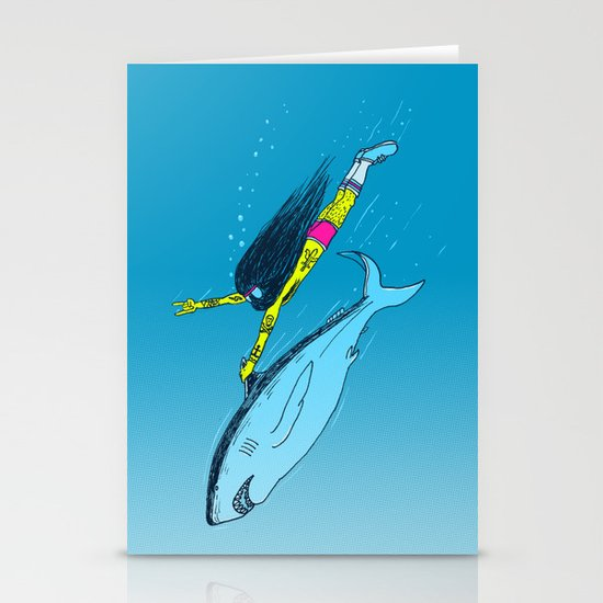 Shark Yeah Stationery Cards