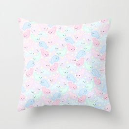 Pastel Seals Throw Pillow