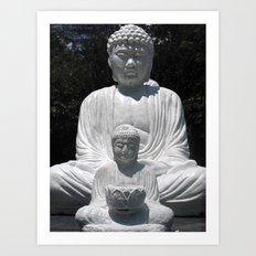 big buddha and little buddha Art Print