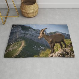 Capricorn in the Alps Rug