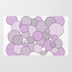 Bubbles - purple, gray and white. Rug