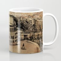 theater Mugs featuring Yerevan Opera Theater by Narek Gyulumyan