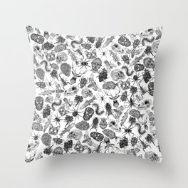 Pattern Black Throw Pillow