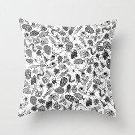 Pattern Black Throw Pillow