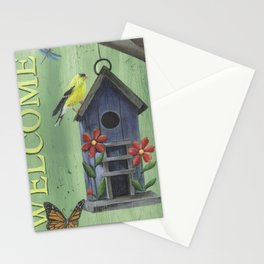 Welcome Goldfinch Stationery Cards