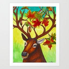 Elk of Autumn Art Print