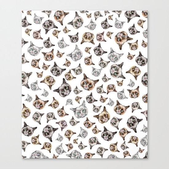 Cat Power on White Canvas Print