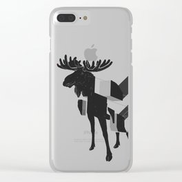 moose_deconstructed Clear iPhone Case