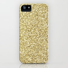 gold glitter Slim Case iPhone (5, 5s)