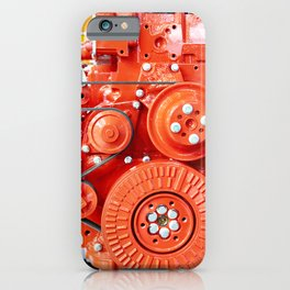 Red diesel engine for truck iPhone Case