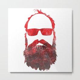 RED BEARD Metal Print