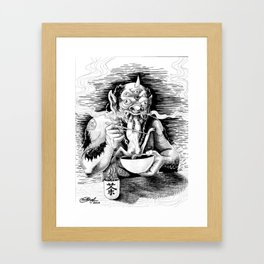 Demon Eating Framed Art Print