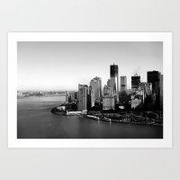 manhattan Art Prints featuring Manhattan  by Zakvdboom Designs