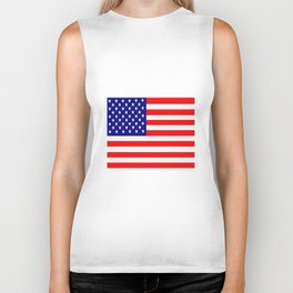 Flag of the USA United States Biker Tank