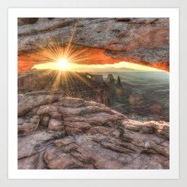 Mesa Arch Canyon Canyonlands Sunrise - Square Format Art Print