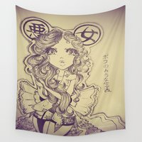 boss Wall Tapestries featuring Boss Chiq by rawsueshii