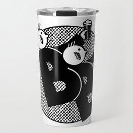 Belgian beer cartoon style Travel Mug
