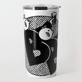 Belgian beer cartoon style Travel Mug