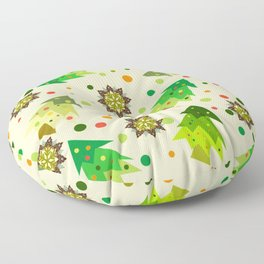 christmas tree Floor Pillow