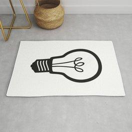 Simple Light Bulb Rug