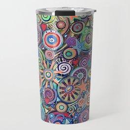 Seeing Stars Abstract  Painting Travel Mug