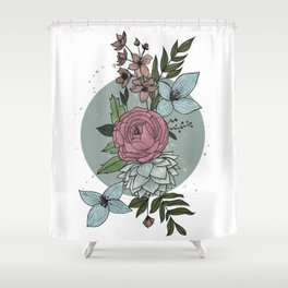 flowers in the winter Shower Curtain