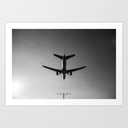 LAX Plane Landing Art Print