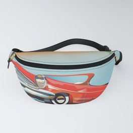 Vintage Red Classic Car Fanny Pack