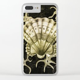 Dystopian Cockle - Gold Clear iPhone Case