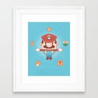 super mario Framed Art Prints featuring Super Mario by Richard Howard
