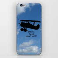 airplane iPhone & iPod Skins featuring airplane by Karl-Heinz Lüpke