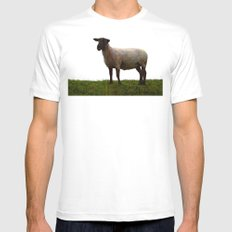 Holy sheep White Mens Fitted Tee MEDIUM