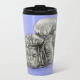 Boxing gloves blue Travel Mug