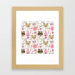 Pink Boho Animals Framed Art Print