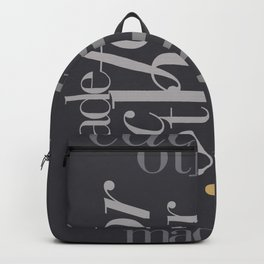 Made for each other #society6 #decor #buyart Backpack
