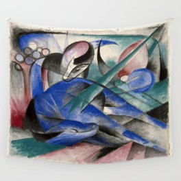 Franz Marc - Dreaming Horse Wall Tapestry