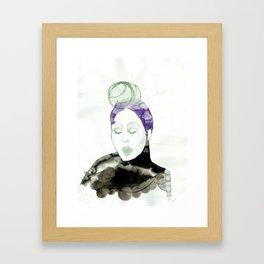 Pureen - Vintage 50s Hairdo Framed Art Print