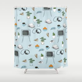 Friday Night Party {for introverts} Shower Curtain