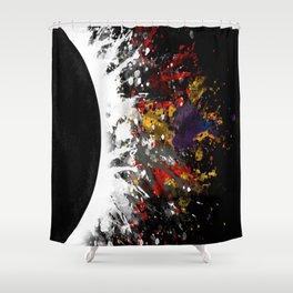 Moon Blast Shower Curtain