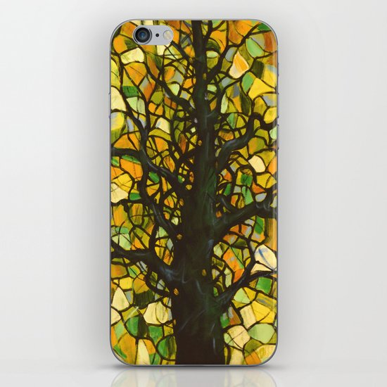 Stained Glass Tree #3 iPhone & iPod Skin