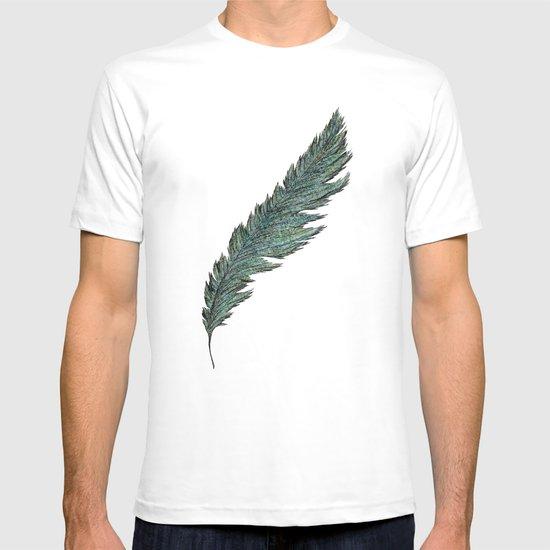 CRAYON LOVE: Aqua Feather T-shirt
