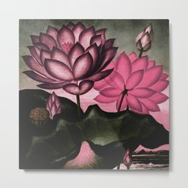 Mauve Pink Sacred Egyptian Bean Temple of Flora Metal Print