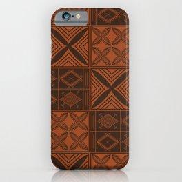 UrbanNesian Brown Malu Design iPhone Case