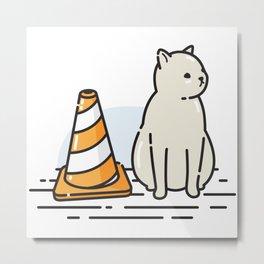Street Cat / Wait (W8) Metal Print