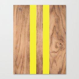Wood Grain Stripes - Yellow #255 Canvas Print